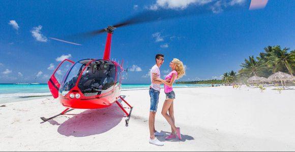 о. Саона на вертолете